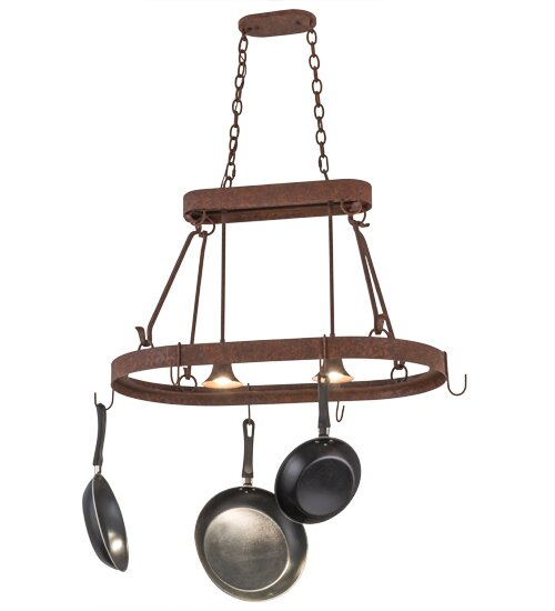 Harmony 2 Light Pot Rack by Meyda Tiffany