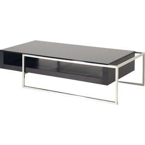 Attractive Camron Contemporary Steel Base Coffee Table