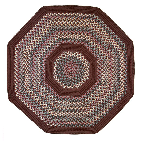 Pioneer Valley II Indian Summer with Burgundy Solids Octagon Rug by Thorndike Mills