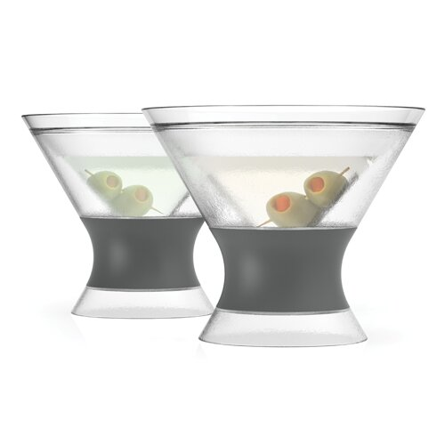 Martini Freeze Plastic Cocktail Glass (Set of 2) by HOST