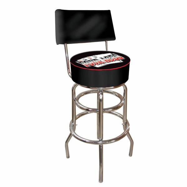 Four Aces 31 Swivel Bar Stool by Trademark Global