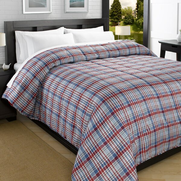 Plaid Printed Lightweight Down Alternative Comforter by Red Barrel Studio