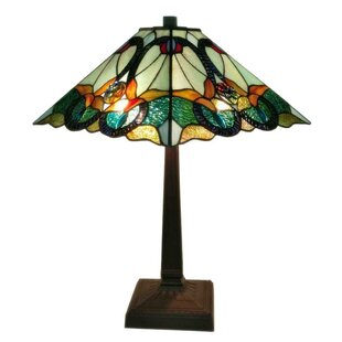 Reviews Tiffany Floral Mission 23 Table Lamp By Amora Lighting