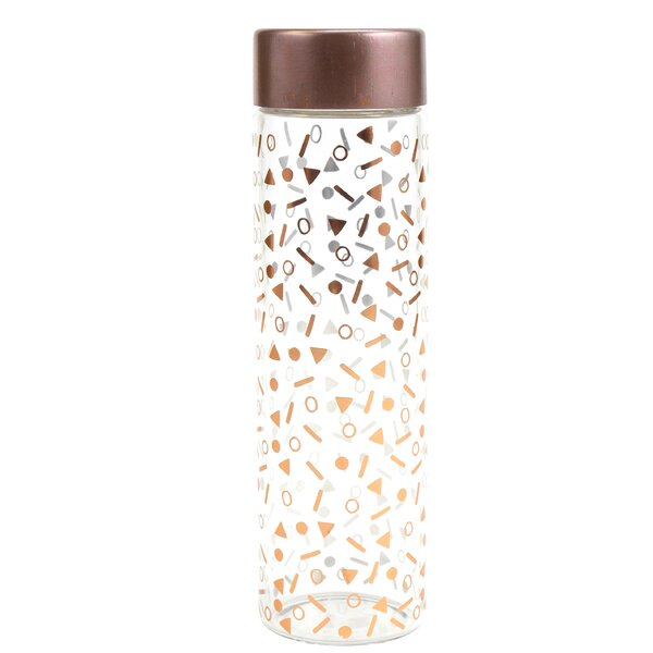 Confetti 21 oz. Glass Water Bottle by Plum and Punch