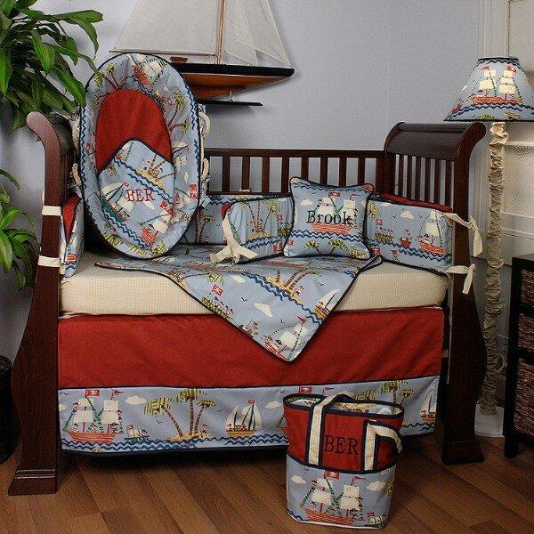 Ahoy 4 Piece Crib Bedding Set