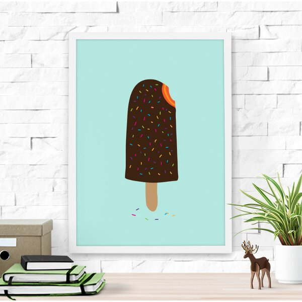 Colorful Ice Cream Framed Art by Dilemma Posters