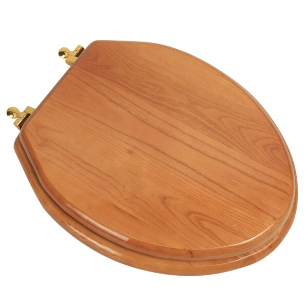 Designer Solid Oak Wood Elongated Toilet Seat by Plumbing Technologies LLC