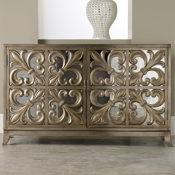 Melange Fleur-de-lis Mirrored Sideboard by Hooker Furniture