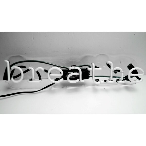 Breathe Neon Sign by Oliver Gal
