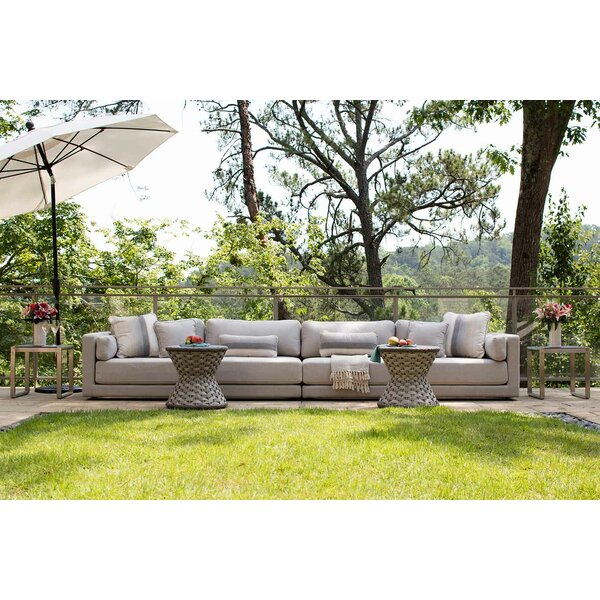 Venti Patio Sectional with Sunbrella Cushions by Summer Classics