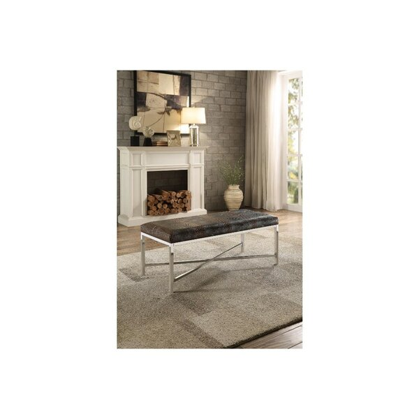 Lisdale Faux Leather Bench by Everly Quinn