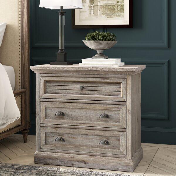 Lenwood 3 Drawer Nightstand by Greyleigh