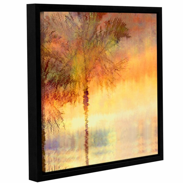 Palmae Reflections Gold Framed Painting Print by Bay Isle Home