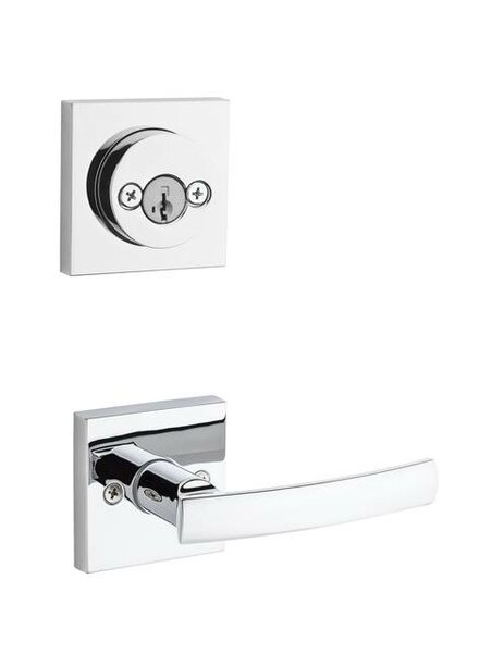 Sydney Signature Series Double Cylinder Interior Pack with Square Rosette and Smartkey® for Handleset by Kwikset