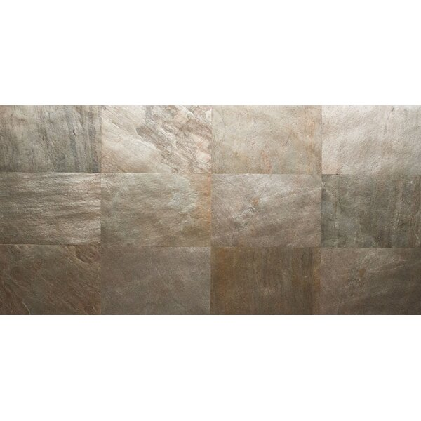 Thin Flexible 16 x 24 Natural Stone Field Tile in Copper by Stone Design