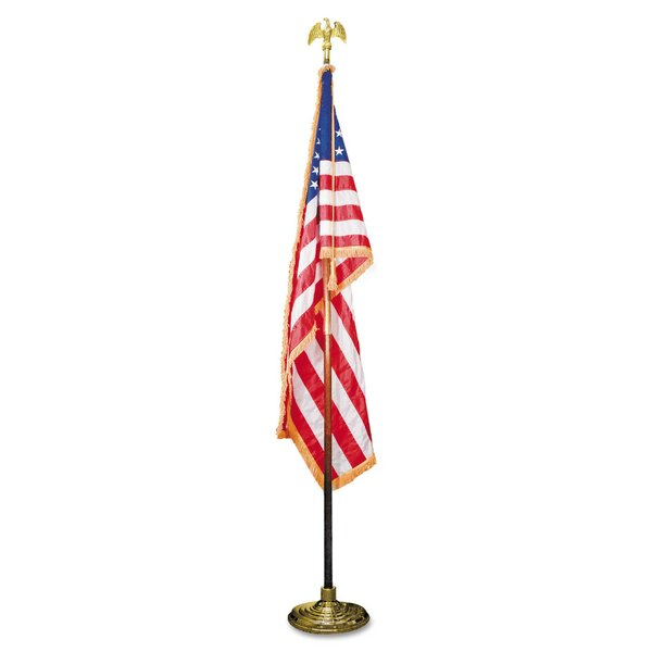 Indoor U.S. Flag and Flagpole Set by Advantus Corp.