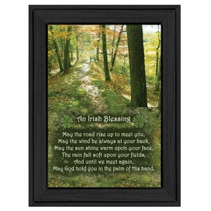 'Irish Blessing' Framed Textual Art by Trendy Decor 4U