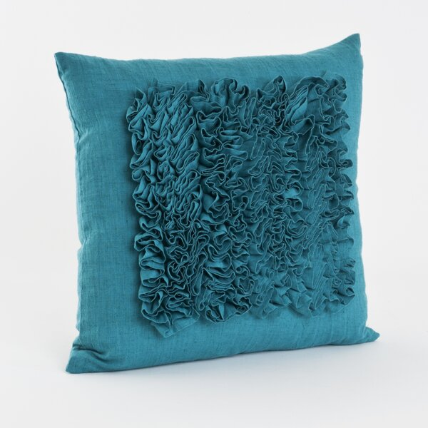 Ruffled Throw Pillow by Saro