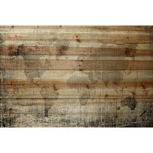 'Latitude' by Parvez Taj Painting Print on Natural Pine Wood by Parvez Taj