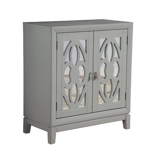 Milburn 2 Door Mirrorred Square Accent Cabinet