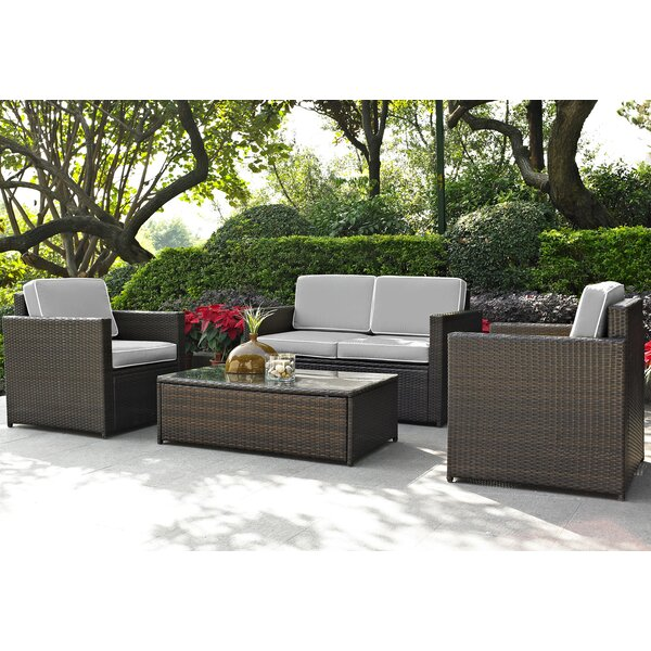 Belton 4 Piece Sofa Set with Cushions by Mercury Row