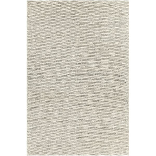 Kurten Contemporary Wool Cream Area Rug by Gracie Oaks