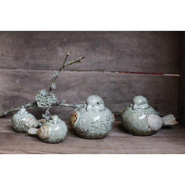 Visser Stoneware Birds (Set of 4) by Gracie Oaks