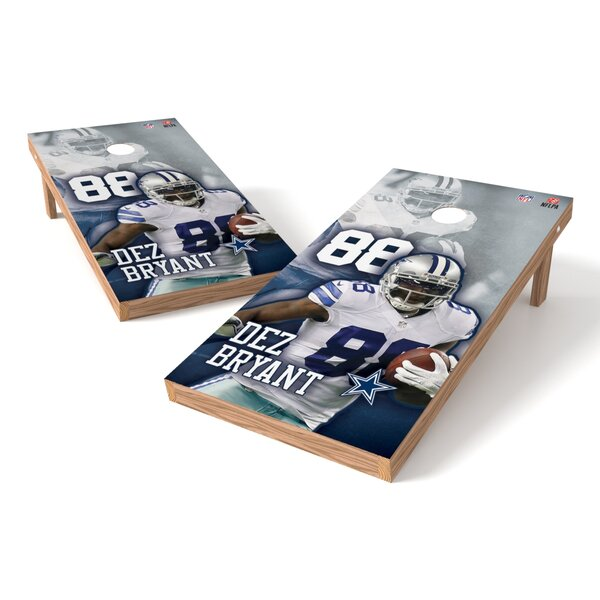 NFLPA Cowboys Dez Bryant Cornhole Board by Tailgate Toss