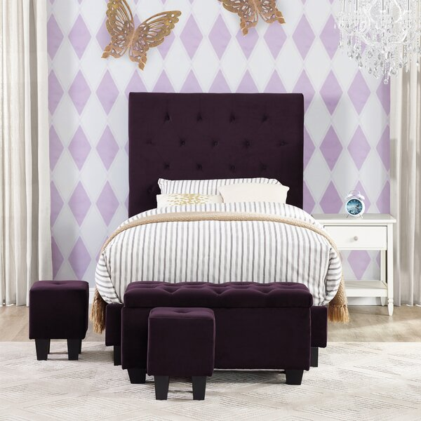 Croce Twin Upholstered Bed with Ottoman by Harriet Bee