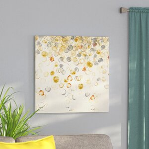 'Golden Tones' Oil Painting Print on Wrapped Canvas by Ivy Bronx