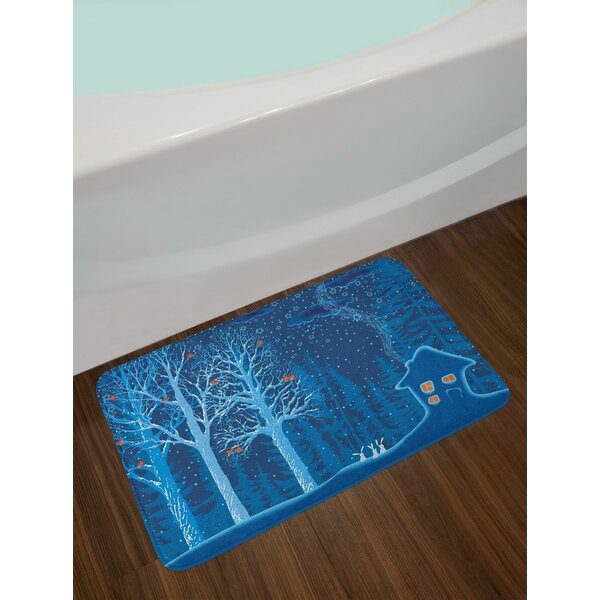 Forest Winter Landscape Bath Rug by East Urban Home