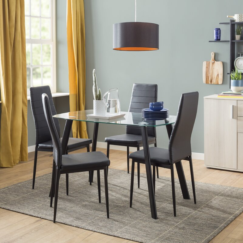 Hillary Dining Set With 4 Chairs