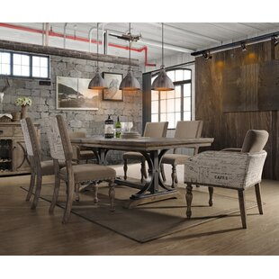 Dasher 7 Piece Butterfly Leaf Table With Nail Head Arm Chairs Dining Set