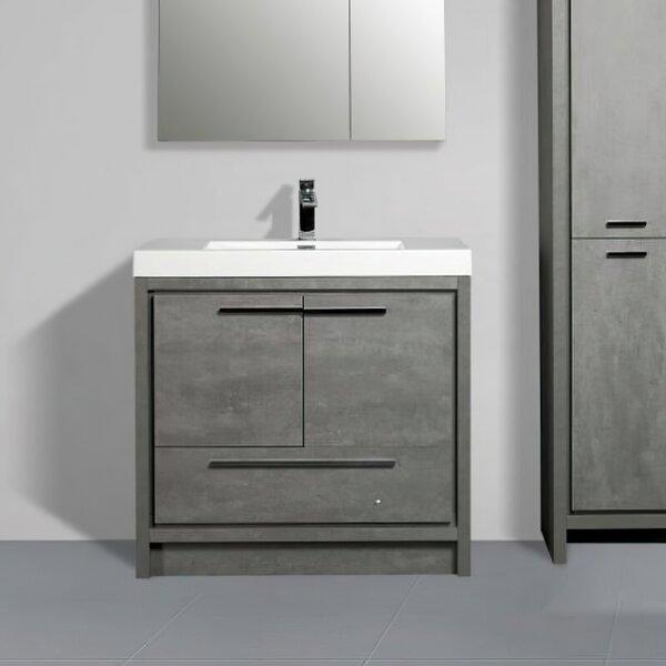 Aiyat 38'' Wall-Mounted Single Bathroom Vanity Set
