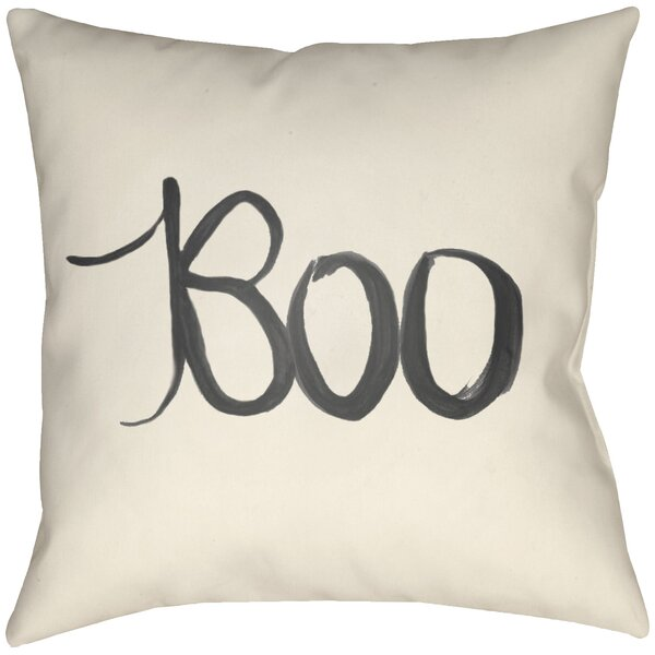 Dreketi Boo Indoor/Outdoor Throw Pillow By The Holiday Aisle