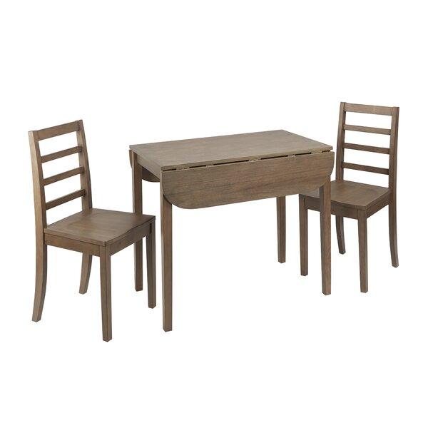 Henrik 3 Piece Drop Leaf Breakfast Nook Dining Set by Andover Mills