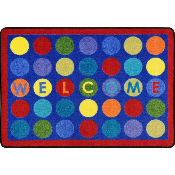 Library Dots Blue Area Rug by Joy Carpets