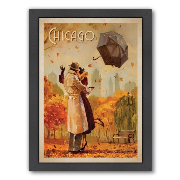 Windy City Kiss Framed Vintage Advertisement by East Urban Home