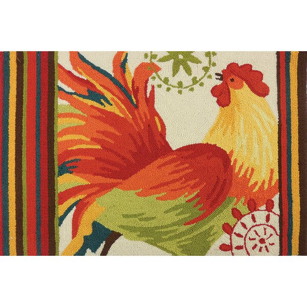 Arette Spiced Rooster Multi Area Rug by August Grove
