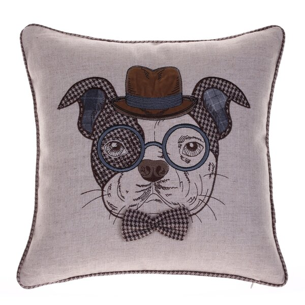 Distinguished Dog Pillow Oscar Sanders Throw Pillow by 14 Karat Home Inc.