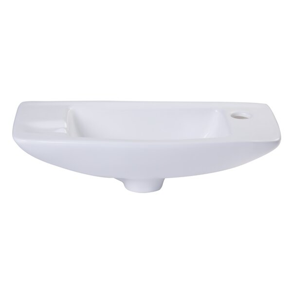 Ceramic 18 Wall Mount Bathroom Sink by Alfi Brand