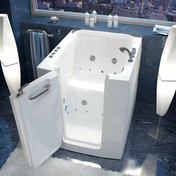 Durango 38 x 32 Walk-In Air and Whirlpool Jetted Bathtub by Therapeutic Tubs