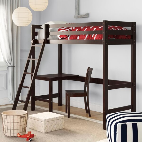 Twin Loft Bed with Chair by Three Posts Baby & Kids