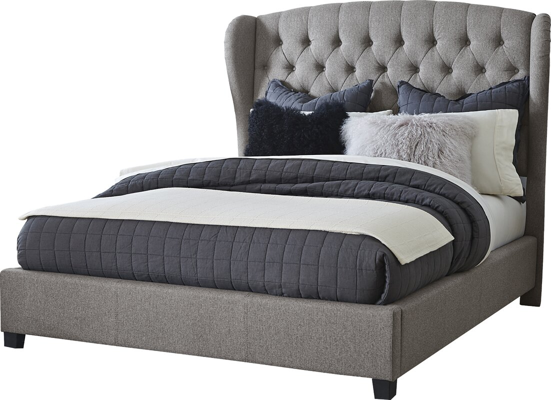 Wayfair Upholstered Bed Home Wayfair Upholstered Bed King: Darby Home Co Edgar Upholstered Panel Bed & Reviews