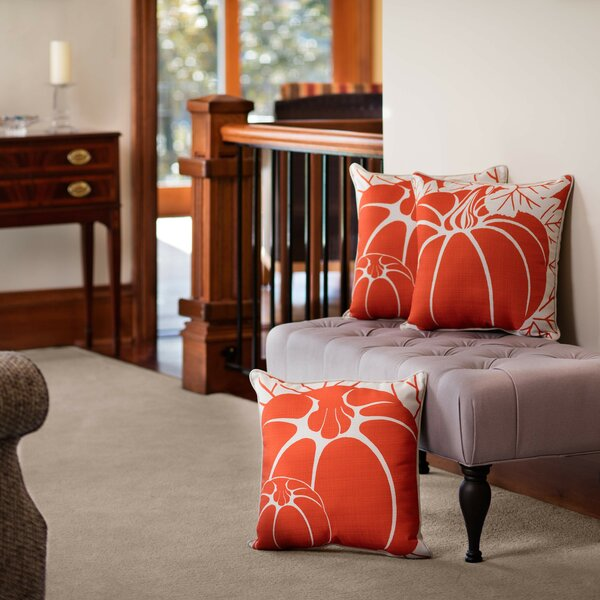 Pumpkins Throw Pillow by Pillow Perfect