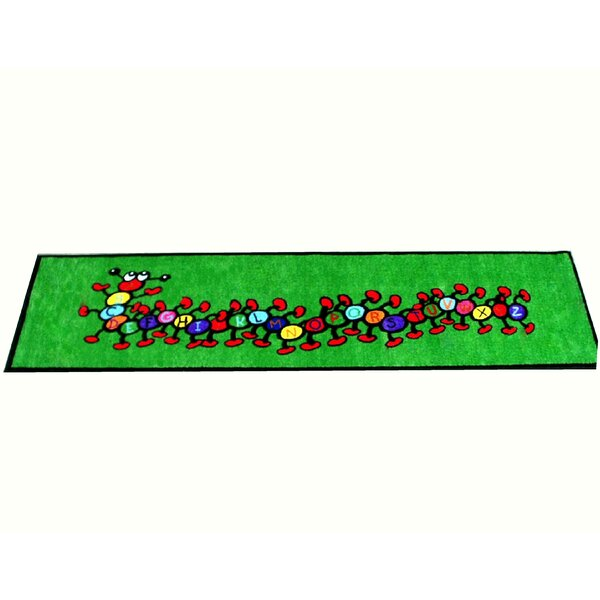 Caterpillar Green Area Rug by Kids World Carpets