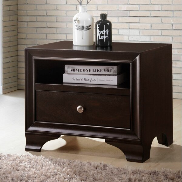 Ivor 1 Drawer Nightstand by Alcott Hill