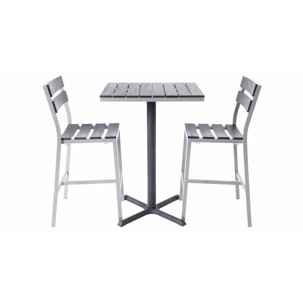 Milloy 3 Piece Bar Height Dining Set by Madbury Road