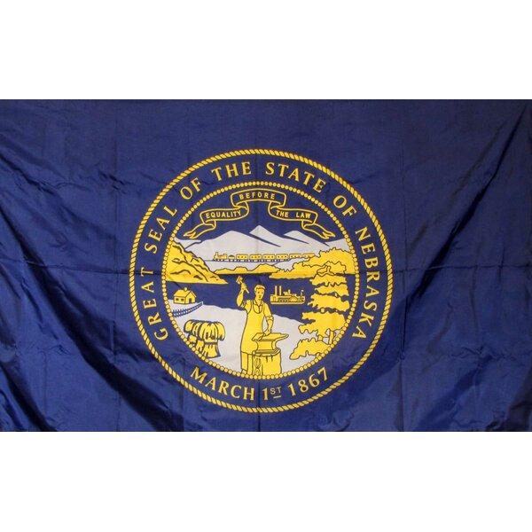 Nebraska Glo Traditional Flag by NeoPlex