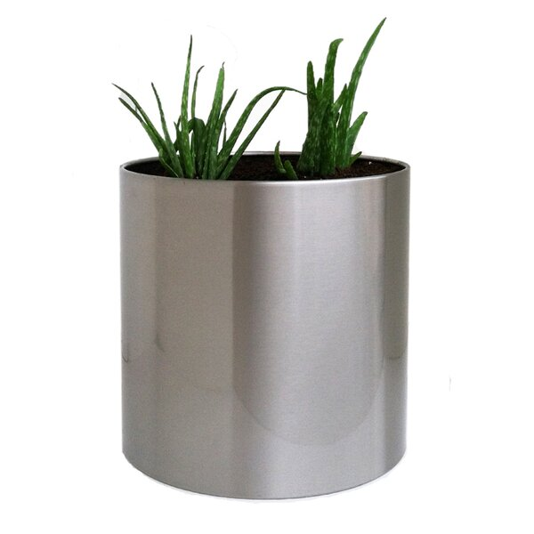 Stainless Steel Pot Planter by NMN Designs